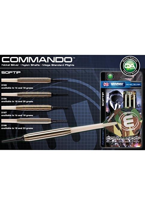Winmau Commando Nickel Silver Plastik Uçlu Dart-18 Gram Renkli